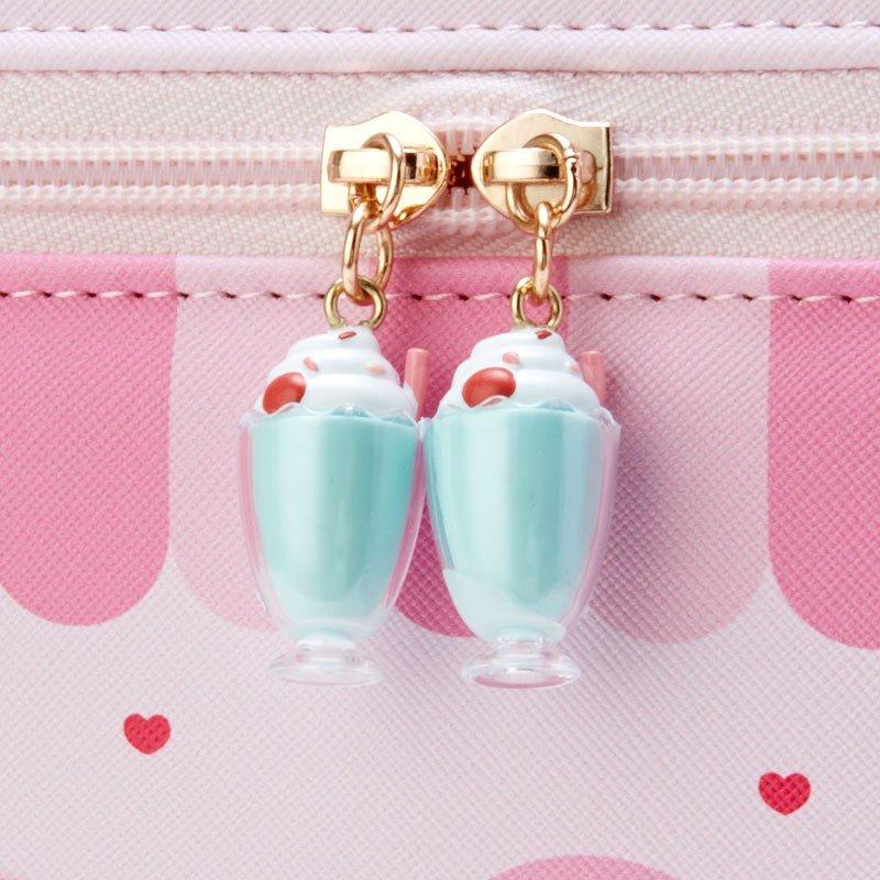 〔小禮堂〕美樂蒂 皮質手提化妝箱《粉》收納箱.化妝提包.變裝咖啡廳系列 3