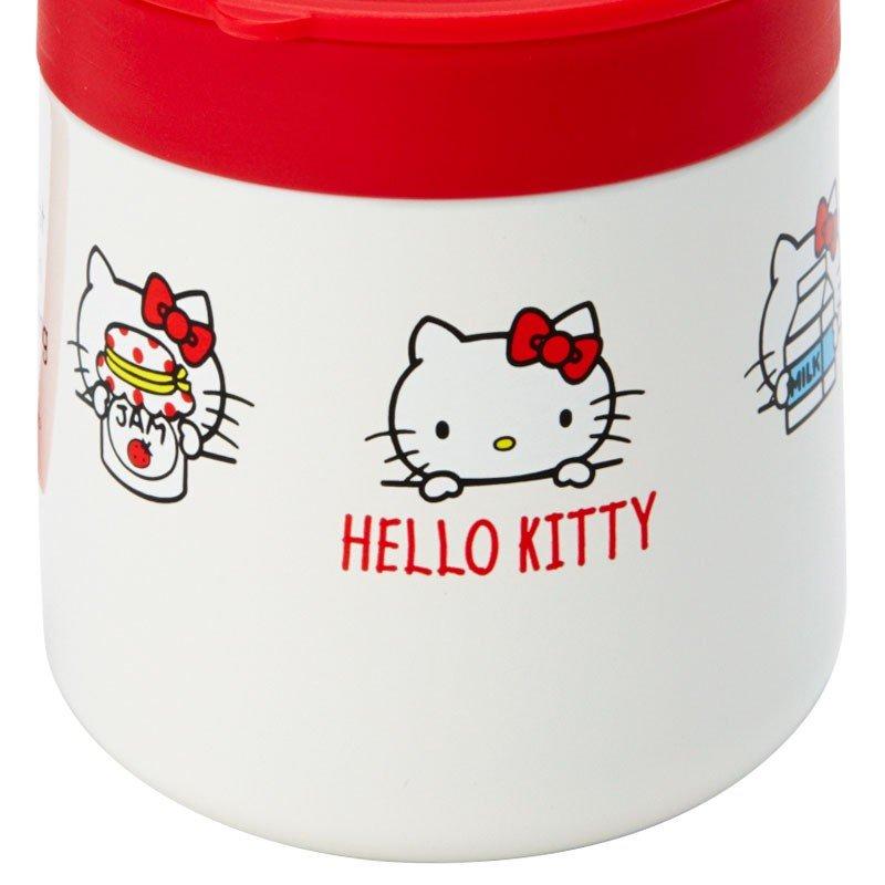 〔小禮堂〕Hello Kitty 單耳不鏽鋼附蓋保溫杯《紅白》300ml.保冷杯.茶杯 6