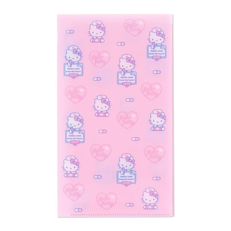小禮堂 Hello Kitty 日製抗菌口罩收納夾《粉.護士》收納包.口罩夾