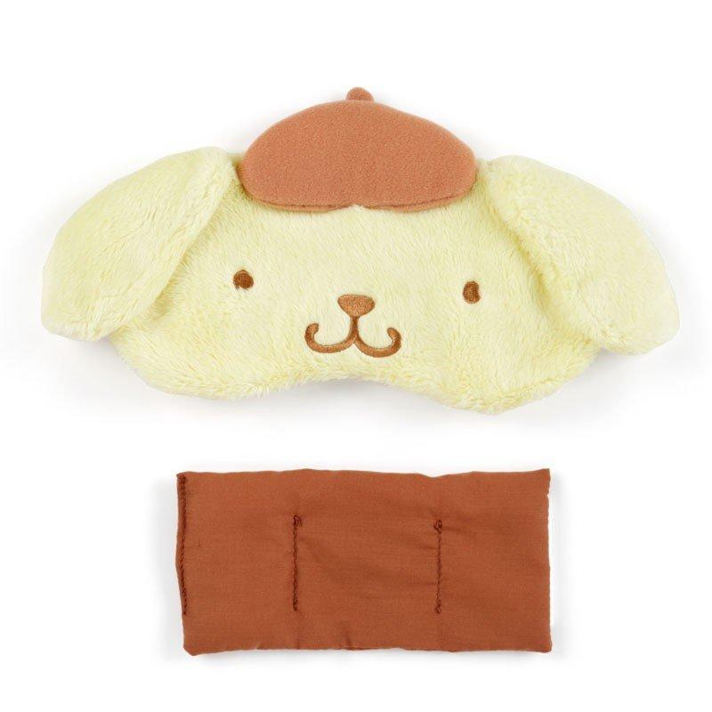 【領券折$30】小禮堂 布丁狗 立體耳朵造型絨毛熱敷眼罩《黃棕》舒壓眼罩.加熱眼罩