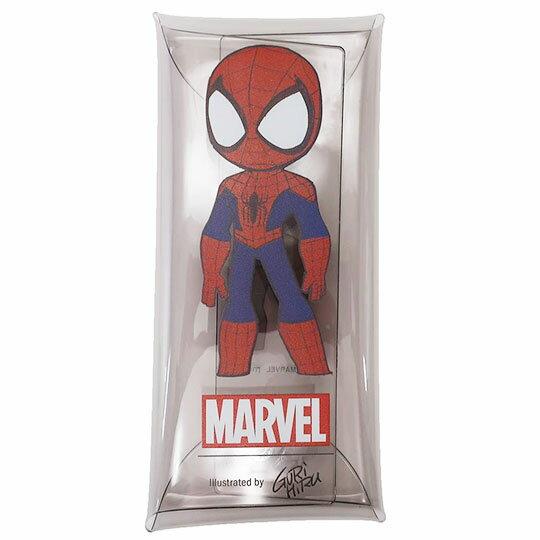 〔小禮堂]漫威英雄Marvel 蜘蛛人 防水透明扁平扣式筆袋《藍紅.站姿》收納包.鉛筆盒