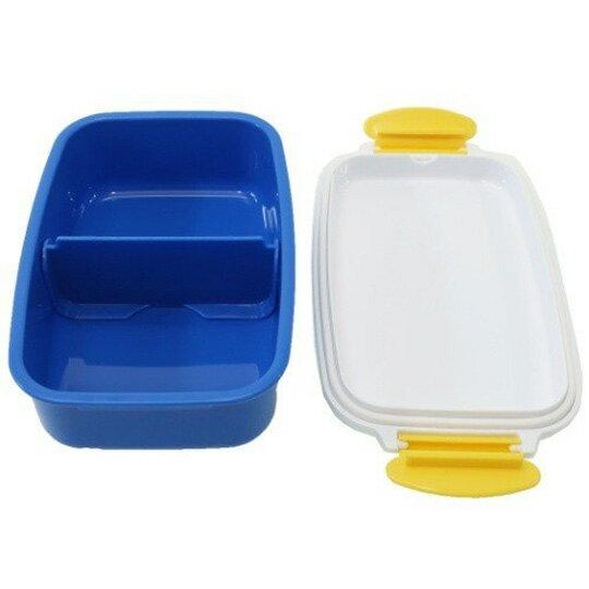 小禮堂 迪士尼 玩具總動員4 日製方型雙扣便當盒《藍白.角色介紹》500ml.保鮮盒.食物盒