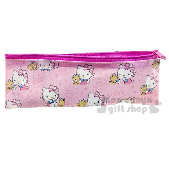 小禮堂 Hello Kitty 旅行牙刷乳液盒組附收納袋《粉.小熊》盥洗用品.旅行用品