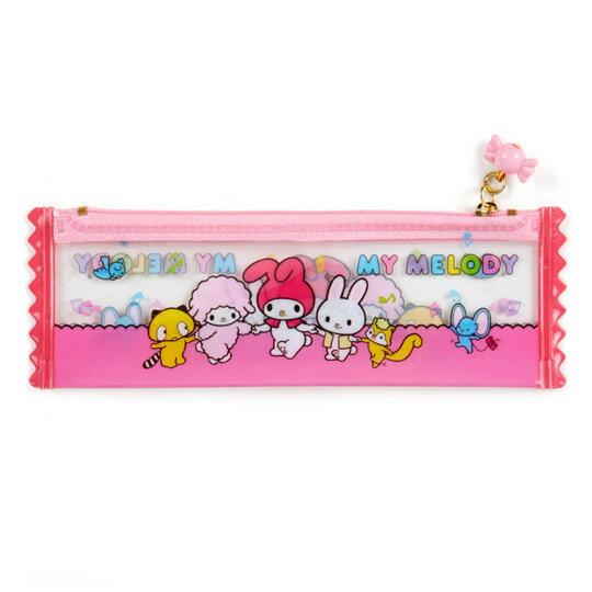 小禮堂 美樂蒂 餅乾袋造型防水扁平拉鍊筆袋《粉》收納包.化妝包.夢幻糖果店系列