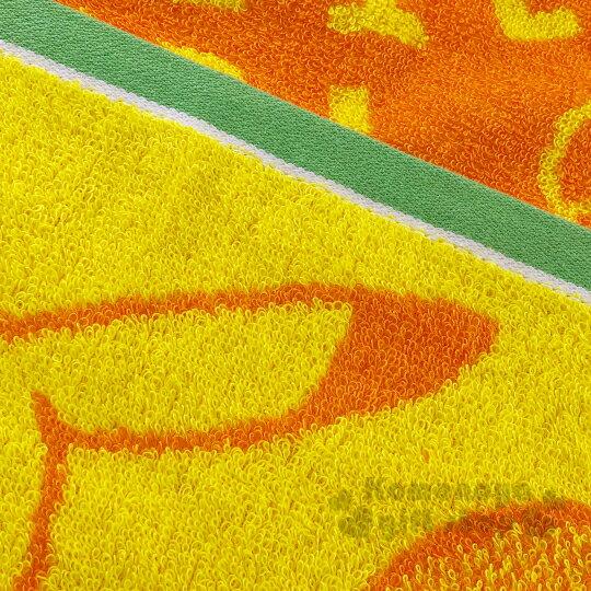 〔小禮堂〕神奇寶貝Pokémon皮卡丘 純棉無捻紗長毛巾《黃橘.側坐》34x76cm.長巾 2