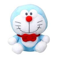 小叮噹週邊商品推薦〔小禮堂〕哆啦A夢 x Hello Kitty 絨毛玩偶娃娃《S.藍白》擺飾.玩具