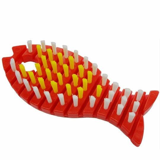 【領券折$30】小禮堂 小久保工業所 日製魚造型鍋具清潔刷 《紅》刷具.鍋刷