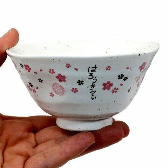 小禮堂 Hello Kitty 日製陶瓷碗《粉白.人力車》飯碗.湯碗.金正陶器