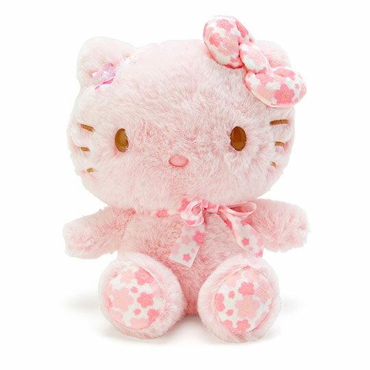 〔小禮堂〕Hello Kitty 絨毛玩偶娃娃《S.粉》玩具.擺飾.燦爛櫻花系列 0