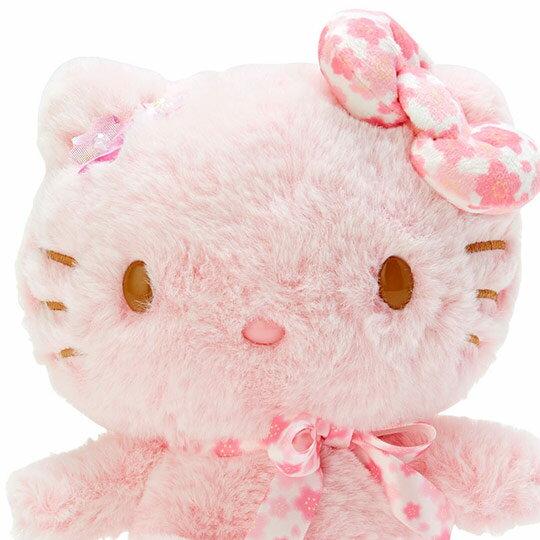 〔小禮堂〕Hello Kitty 絨毛玩偶娃娃《S.粉》玩具.擺飾.燦爛櫻花系列 3