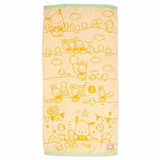 小禮堂 帕恰狗 純棉無捻紗大浴巾《黃》60x120cm.毛巾.生日蛋糕系列