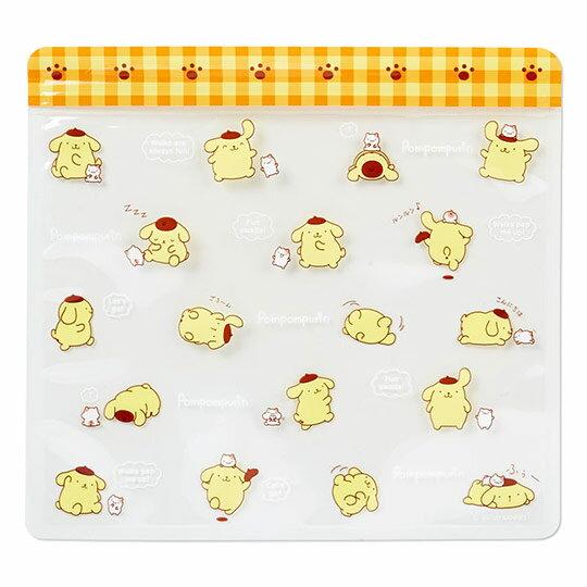 小禮堂 布丁狗 方形透明夾鏈袋組《6入.黃棕.對話框》糖果袋.文具袋