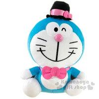小叮噹週邊商品推薦〔小禮堂〕哆啦A夢 x Hello Kitty 絨毛玩偶娃娃《L.粉藍》玩具.擺飾