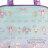 〔小禮堂〕蹦蹦兔 防水海灘袋波士頓包《藍紫.蝴蝶結》透明游泳袋.2020夏日特輯 1