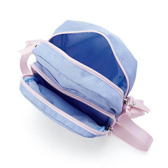 〔小禮堂〕Hello Kitty 方形帆布三層拉鍊斜背包《紫.聖代杯》隨身包.外出包 2
