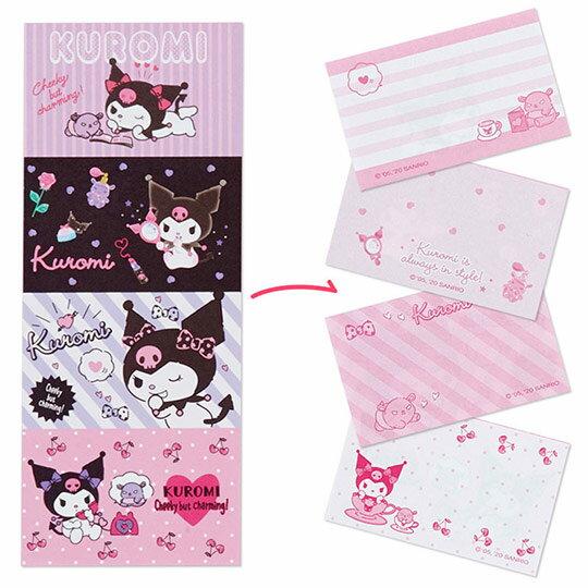〔小禮堂〕酷洛米 日製方形多折信紙本《紫.化妝品》留言卡片.便條紙 3