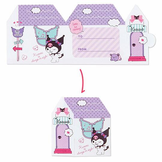 〔小禮堂〕酷洛米 日製方形多折信紙本《紫.化妝品》留言卡片.便條紙 4