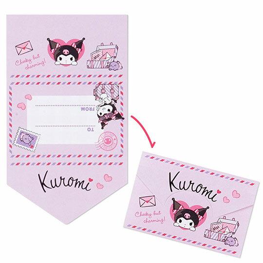 〔小禮堂〕酷洛米 日製方形多折信紙本《紫.化妝品》留言卡片.便條紙 5