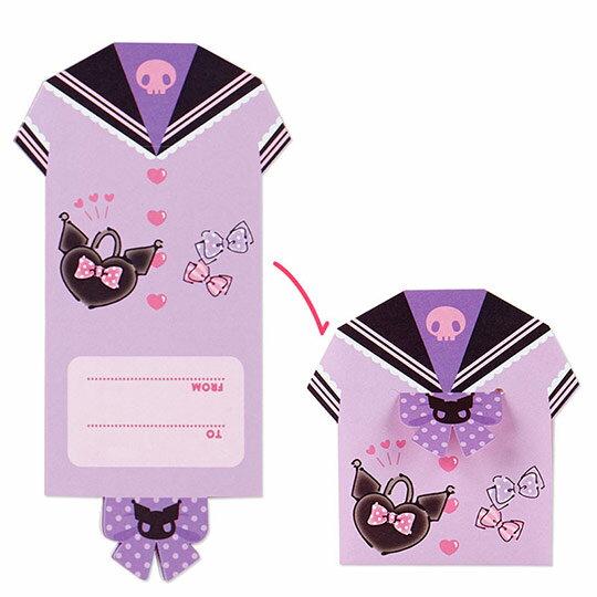 〔小禮堂〕酷洛米 日製方形多折信紙本《紫.化妝品》留言卡片.便條紙 7