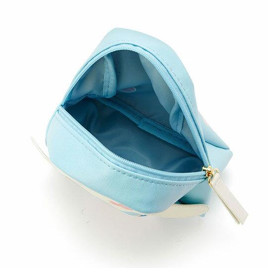 〔小禮堂﹞大耳狗 富士山造型皮質化妝包《藍白》收納包.萬用包.燦爛櫻花系列 2