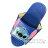 〔小禮堂〕迪士尼 史迪奇 兒童皮質拖鞋《藍.大臉》室內拖鞋.皮拖 1