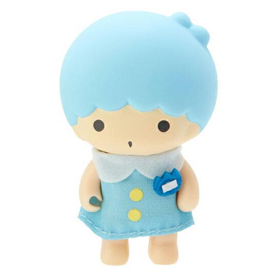 〔小禮堂〕雙子星KIKI 迷你植絨玩偶娃娃《藍黃》掌上公仔.擺飾.復古學園系列 1