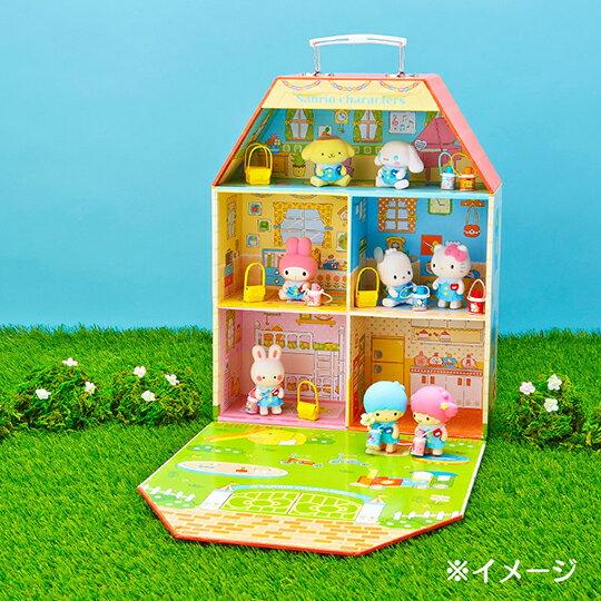 〔小禮堂〕雙子星KIKI 迷你植絨玩偶娃娃《藍黃》掌上公仔.擺飾.復古學園系列 4