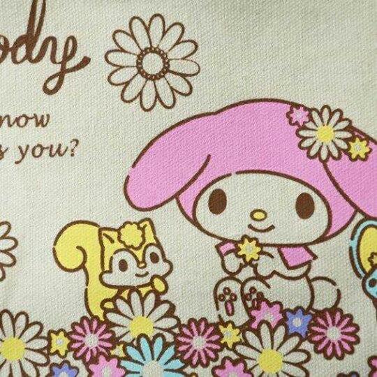 〔小禮堂〕美樂蒂 可拆式帆布保冷手提便當袋《米粉.花朵》野餐袋.保冷袋 2