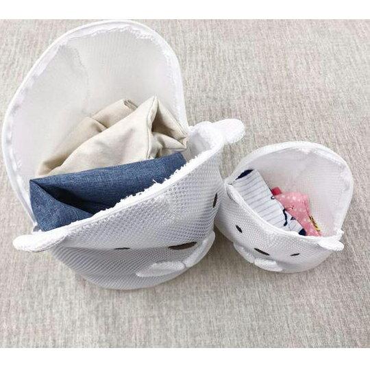 〔小禮堂〕 角落生物 貓咪 全身造型圓筒網狀洗衣袋《黃》洗衣網袋.收納袋 1