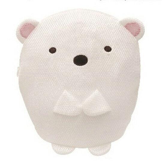 〔小禮堂〕 角落生物 北極熊 全身造型圓筒網狀洗衣袋《白》洗衣網袋.收納袋 0