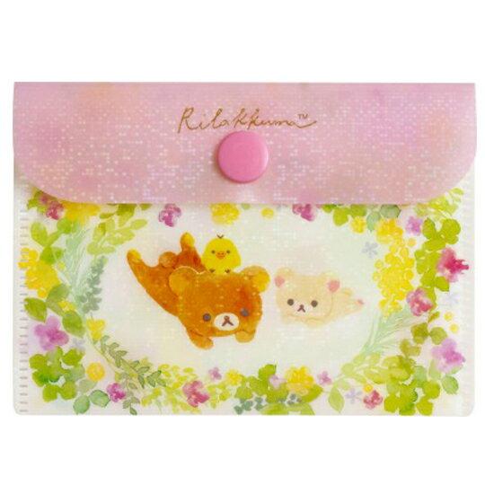 〔小禮堂〕懶懶熊 拉拉熊 日製攜帶式紙肥皂附收納夾《50入.粉綠》皂紙.紙香皂 0