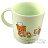 〔小禮堂〕懶懶熊 拉拉熊 日製單耳塑膠小水杯《綠棕.潛艇堡》240ml.漱口杯.塑膠杯 1