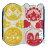 〔小禮堂〕麵包超人 造型純棉無捻紗小方巾《紅黃.角色大臉》25x25cm.手帕 1