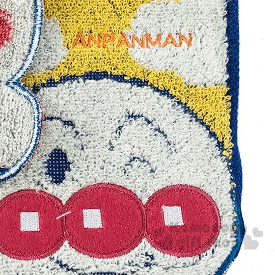 〔小禮堂〕麵包超人 造型純棉無捻紗小方巾《紅黃.角色大臉》25x25cm.手帕 2