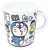 小叮噹週邊商品推薦小禮堂 哆啦A夢 馬克杯 陶瓷杯 咖啡杯 茶杯 250ml (藍白 格線)