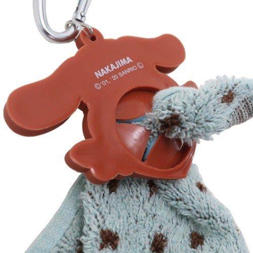 小禮堂 大耳狗 鑰匙圈 矽膠吊飾 鎖圈 掛飾 毛巾夾 毛巾收納 (藍棕 愛心)