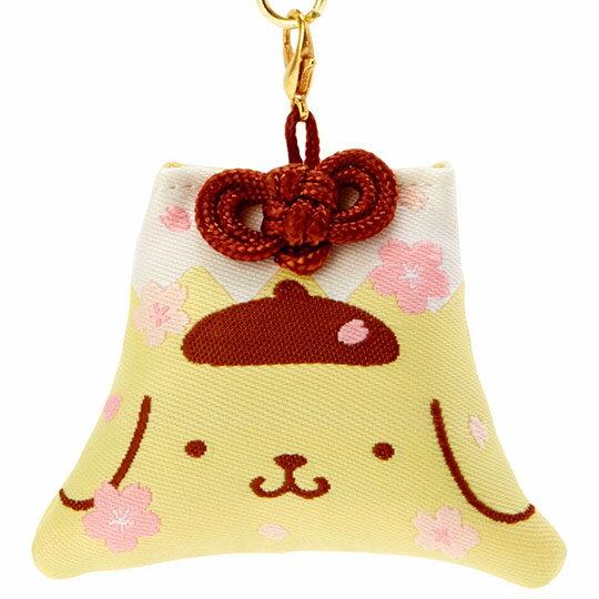 小禮堂 布丁狗 香氛鑰匙圈 吊飾 掛飾 鎖圈 香包 富士山造型 櫻花香 (黃 燦爛櫻花)