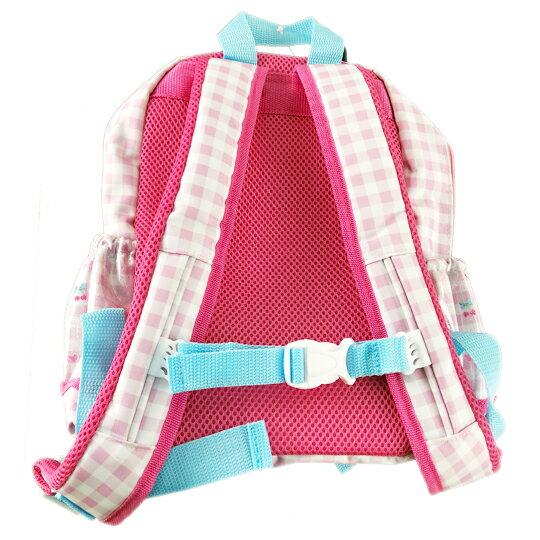 小禮堂 美樂蒂 後背包 兒童背包 尼龍 掀蓋雙層拉鍊 雙肩包 書包 (粉 格紋)