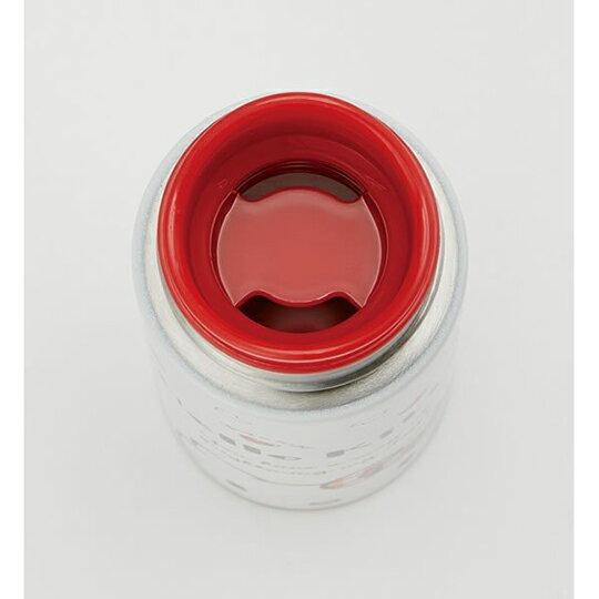 小禮堂 Hello Kitty 迷你 保溫瓶 旋轉蓋 超輕量不鏽鋼 水壺 水瓶  隨手瓶 120ml  (紅 愛心)