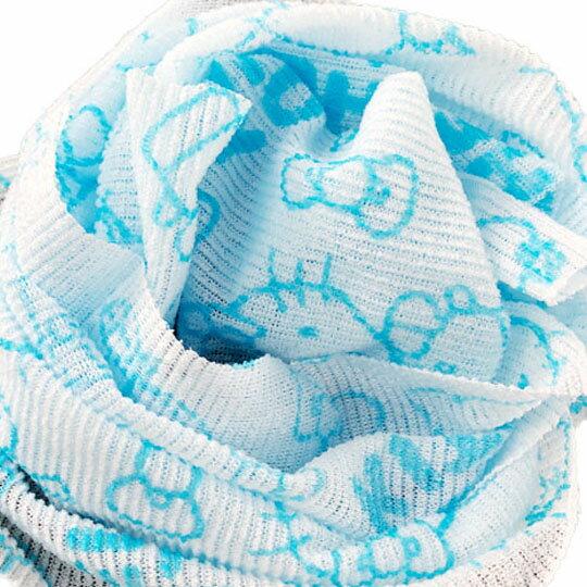 小禮堂 Hello Kitty 身體沐浴巾 搓澡巾 洗澡巾 30x90cm (3款隨機)