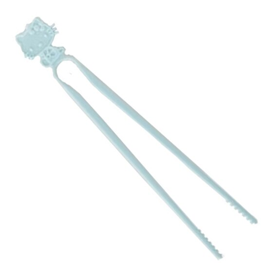 小禮堂 Hello Kitty 日製 不沾手零食夾 塑膠 食物夾 餅乾夾 夾子 (藍) 0