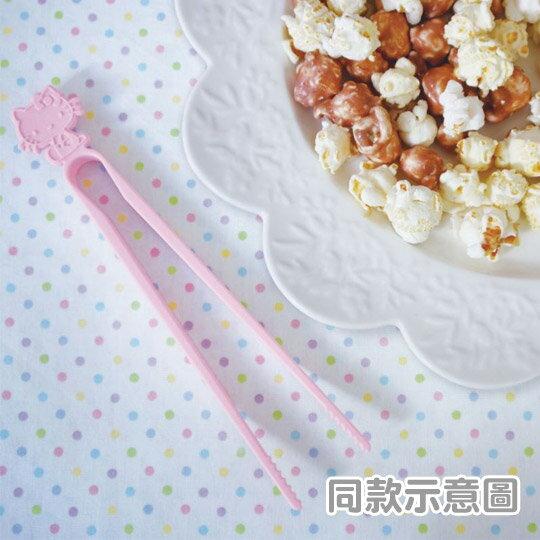 小禮堂 Hello Kitty 日製 不沾手零食夾 塑膠 食物夾 餅乾夾 夾子 (紫) 2