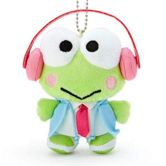 小禮堂 大眼蛙 絨毛吊飾 玩偶吊飾 鑰匙圈 (綠 俏皮偵探)