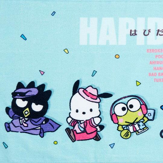 小禮堂 Sanrio大集合 純棉割絨長毛巾 純棉毛巾 長巾  34x80cm (綠 俏皮偵探)