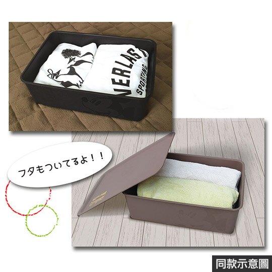 小禮堂 迪士尼 米奇 日製 方形塑膠拿蓋收納箱 玩具箱 衣物箱 9L (M 白 大臉)