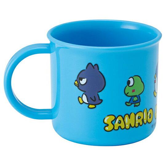 【領券折$30】小禮堂 Sanrio大集合 日製 單耳塑膠杯 兒童水杯 漱口杯 200ml (藍 車車)