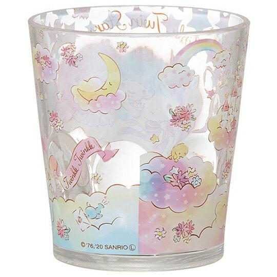 【領券折$30】小禮堂 雙子星 無把塑膠杯 透明杯 壓克力杯 兒童水杯 280ml (粉 獨角獸)