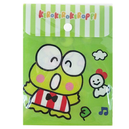 【領券折$30】小禮堂 大眼蛙 B6直式塑膠扣式資料袋 文具袋 萬用資料袋 (綠 跳躍)