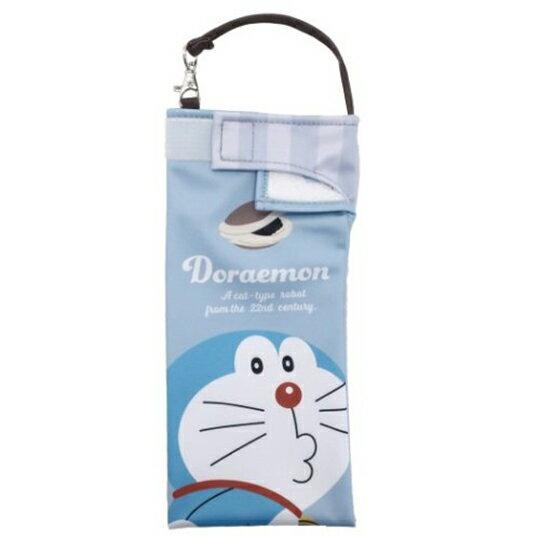 【領券折$120】小禮堂 哆啦A夢 尼龍吸水速乾折傘套 雨傘收納袋 傘袋 水壺袋 (藍 嘟嘴)