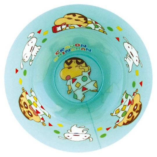 【領券折$30】小禮堂 蠟筆小新 無把美耐皿杯 塑膠杯 兒童水杯 270ml (白綠 睡衣)